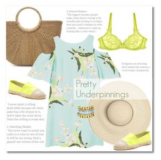 """""""Pretty Underpinnings"""" by galina-gavrailova ❤ liked on Polyvore featuring MANGO, Rebecca Minkoff, L'Agent By Agent Provocateur, Nocturne, fashionset and underpinnings"""