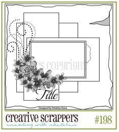 Created by #Amarilys Doria for CS! http://CreativeScrappers.blogspot.com  CS Sketch 198