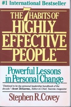 The 7 Habits of Highly Effective People, I've read it once....I need to charge my Kindle and reread. Such an inspiring book!