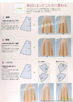 Basic patterns from mrs style book Japanese Sewing Patterns, Skirt Patterns Sewing, Clothing Patterns, Fashion Sewing, Diy Fashion, Sewing Clothes, Diy Clothes, Costura Fashion, Skirt Tutorial