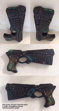 Psycho Pass Dominator prop pistol from foam - Prop commission.