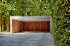 Moderne carports in hout | Bogarden
