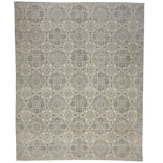 Modern Gray Rug with Transitional Style  | From a unique collection of antique and modern more carpets at https://www.1stdibs.com/furniture/rugs-carpets/area-rugs-carpets/