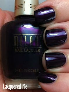 Milani Deep Thoughts - sent to me by a lovely enabler in the States.  I just can't pass up these deep reddish purples.