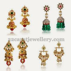 Jewellery Designs: Jhumkas from Shree Jewellers
