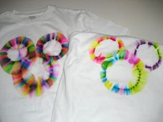 Sharpie Tie Dye idea, without the mess. The Mickey heads make this a no-brainer craft for my Disneyland-loving granddaughters!