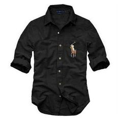 new 2015 spring auturn New Mens brand small horse famous Solid Formal Casual Shirts Cotton Long Sleeve Slim solid Sports Shirt Ralph Lauren Hombre, Polo Ralph Lauren, Stylish Men, Men Casual, Moda Converse, Ralph Laurent, Le Polo, Hipster, Camisa Polo