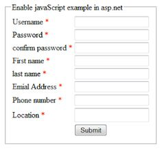 How to enable JavaScript in asp.net using C#,VB.Net http://www.webcodeexpert.com/2013/06/how-to-enable-javascript-in-aspnet.html