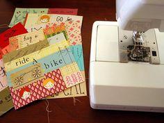 fun paper pieced cards. dawbis