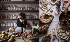 Skye McAlpine composite picture for Kitchen Encounters, Cook, 20 Feb 2016 Caramelised Apples, Retro Fridge, Kitchen Gallery, Kitchen Pictures, Green Kitchen, Nigella, Roasted Vegetables, Savoury Dishes, How To Make Bread