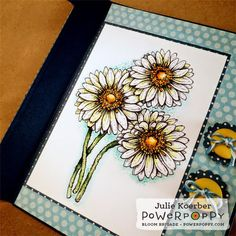 Gerbera Daisies Digital Stamp Set