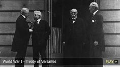 """This picture shows what is known as the """"Big Four"""" the morning they signed the Treaty of Versailles. This treaty was signed in 1919, five days after the assassination of Franz Ferdinand and effectively ended World War One. It forced Germany to pay many reparations and set many limits on their military. Unfortunately, the Germans were angry that their leaders had agreed to such a treaty and did not abide by it, becoming one of the causes for WWII. Link: http://www.watchmojo.com/video/id/8..."""