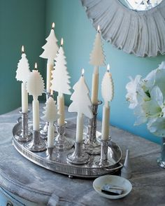 Center pieces for holiday entertaining from Martha Stewart.