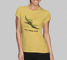 Don't Ptread On Me TShirt  Dinosaur Pterodactyl TShirt  by Yipptee, $21.99
