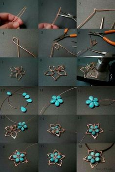 Wire & beaded flower