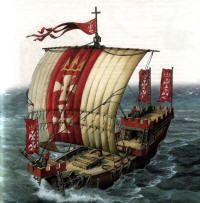 средневековый корабль