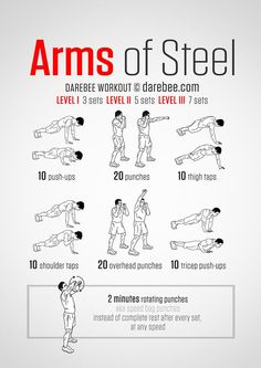 Workout of the Day: Arms of Steel Workout http://bit.ly/1MKXWoE