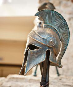 Máscara griega antiguo casco corintio casco por BirdArtBulgaria