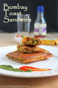 Bombay Masala Toast Sandwich | Potato stuffed Sandwich Recipe - Sam would love this