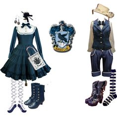 """Ravenclaw lolita & ouji"" by stitchwork-panda on Polyvore"