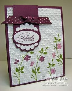 stampin up punches and thank you card