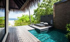 ... Beach Pool Villa with Private Pool - Outrigger Konotta Maldives Resort ...
