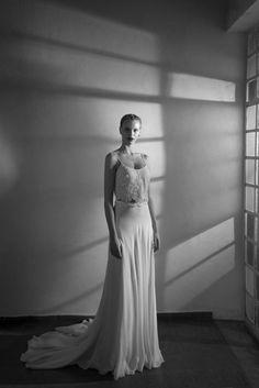 Trendy Wedding Dresses  :    two piece wedding dress  - #Dress https://youfashion.net/wedding/dress/trendy-wedding-dresses-two-piece-wedding-dress/