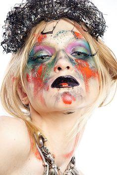 Creativ makeup, makijaż artystyczny, makijaż fantazyjny.Facepainting.