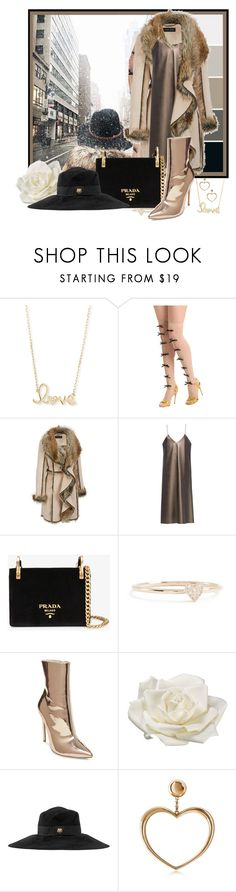 """""""New York Valentine's Day Outfit ~ Brrrrrrrrrr!"""" by funnfiber ❤ liked on Polyvore featuring Sydney Evan, Gucci, N-DUO, Prada, ZoÃ« Chicco, Steve Madden, Allstate Floral, Magdalena Frackowiak and plus size clothing"""