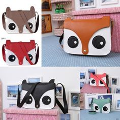 $4.51 Lady Tote Owl Synthetic Leather Purse Shoulder Bags Handbag