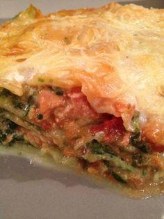 Lasagnes épinard, ricotta et saumon Spanakopita, Ricotta, Lasagna, Healthy, Ethnic Recipes, Desserts, Pizza, Food, Lasagne