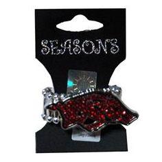 Arkansas Razorbacks Jewelry Ring Rhinestone