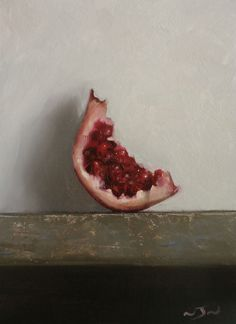 Original Oil Painting - Pomegranate - Contemporary Still Life Art - Nelson