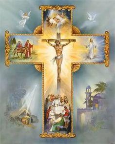 The Cross of Jesus Christ is Precious and Life-giving Pictures Of Jesus Christ, Religious Pictures, Religious Icons, Religious Art, Jesus Our Savior, Jesus Is Lord, Catholic Religion, Catholic Art, Image Jesus