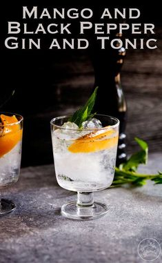 This Mango and Black Pepper Gin and Tonic is a deliciously different way to enjoy the classic G&T. The sweet mango and fiery black pepper sing together and make this a drink to remember. Recipe by Sprinkles and Sprouts   Delicious Food for Easy Entertaining