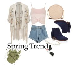 """""""#Springtrend #Spring #Slash"""" by retnoversoo on Polyvore featuring Miss Selfridge, Topshop, WithChic, Sam Edelman, Robert Rose, Neiman Marcus and Sigma Beauty"""