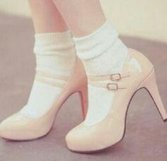 Maryjanes with bobby socks- what a perfect look for a unique wedding shoe