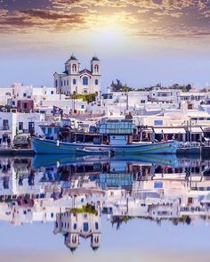 Beautiful town Naoussa on Paros island, Greece. Greece Vacation, Greece Travel, Beautiful Islands, Beautiful Places, Places To Travel, Places To See, Travel Destinations, Greek Island Hopping, Greece Pictures