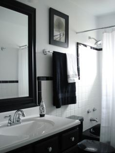 black and white tile bathroom 1950 | 1950 Bathroom Renovation