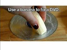 Heb je krassen op je cd?? Wrijf er met een banaan overheen!! Maybe helpt dat!!