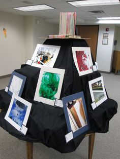 "Photos from ""Snapped!"" a Photography Club for teens are displayed at AMPL's 2013 Spring Teen Art Exhibit Opening."
