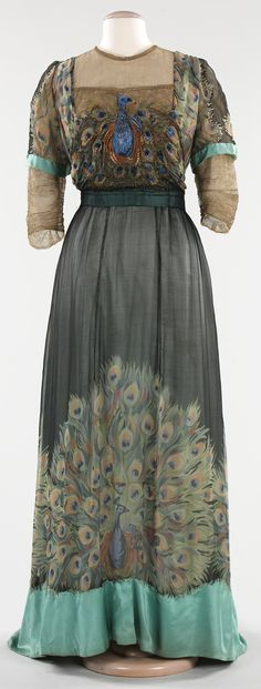French Dress - 1910 - by Weeks (French) - Silk, metal - The Metropolitan Museum of Art - Style: Art Nouveau - @~ Mlle
