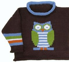 73a1d4367 owl pullover pattern by Gail Pfeifle
