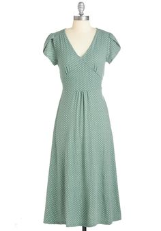 Word to the Blithe Dress in Sage. Youre a go-to for comfy-yet-chic fashion advice - and you illuminate your style smarts with this sage-green midi dress! #green #modcloth
