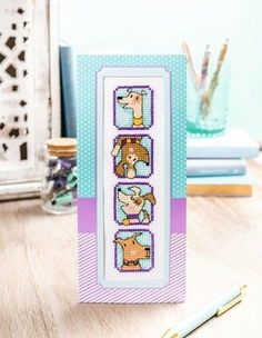 Find two brilliant cross stitch bookmark patterns to download and stitch for all our Gathered makers