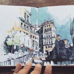 Can you think of any more perfect sketchbook? .. ✨ - Stunning sketches by @dk_limp . #portugal #inkillustration #colorpencil #sketchbooks #malen #zeichnung #zeichnen #polychromos #fabercastell #landscapepainting #drawings #watercolor #pencilart #artspotlight #arts_help #worldofartists #art_collective #imaginationarts #artfido #artcollective #nawden #worldofpencils #dibujo #illustration @visitportugal #urbansketch #designerlife #behance #aquarelle