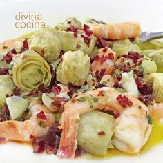 You searched for Alcachofas - Divina Cocina Nut Recipes, Cooking Recipes, Healthy Recipes, Spanish Dishes, Spanish Tapas, Small Meals, Seafood Dishes, No Cook Meals, Food Hacks
