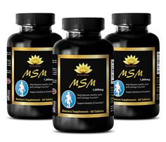 Bones vitamins for womens - MSM (Methylsulfonylmethane) - Hair supplement for women - 3 Bottles 180 Tablets  MSM: Methylsulfonylmethane (MSM) is a naturally occurring sulfur compound found in all vertebrates, including humans. This compound is the third l