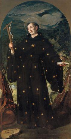 Juan Pantoja de La Cruz, 1553-1608, Spanish, San Nicolás de Tolentino - from the Iglesia del Colegio de doña María de Aragón retable, 1601.  Oil on canvas, 261 x 133 cm.  Museo del Prado, Madrid.