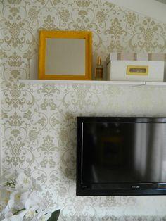 Detalhe do Quarto da Mulher Solteira - Arquiteta Alessandra Braggion Tecidos e revestimentos de parede das marcas Camengo, Casadeco e Casamance by Wallpaper